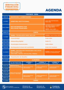 Programa del Evento de Innovación Financiera del BCRA
