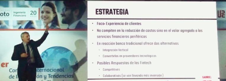 En plena presentación de Estrategia Fintech