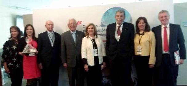 Con el Presidente de la Universidad Piloto de Colombia y la Decana de Ingeniería Financiera